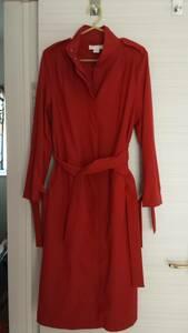 H&M ロングコート 薄手 新品 サイズ34  テラコッタ