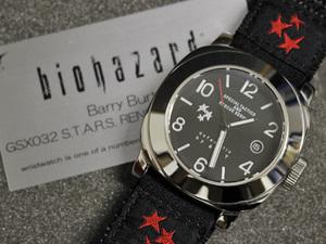 新品 限定プレミア品 BIOHAZARD バリーバートン GSX032 自動巻腕時計 メンズウォッチ 保存箱 交換ベルト 付属品完備 本物 正規品