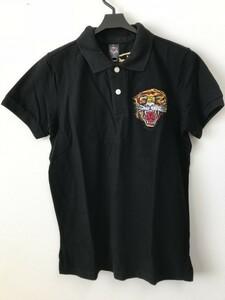 【メンズ】Ed Hardy/エドハーディー/タイガー刺繍ポロシャツ/L