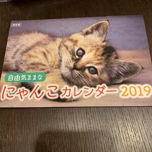 値下げ 2019年 にゃんこカレンダー 限定版