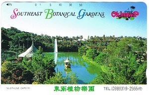 東南植物楽園テレカ 沖縄 未使用品 フリー390-03018
