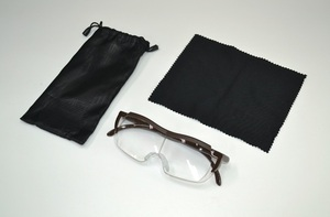 ◆メガネタイプ 拡大鏡 グラスルーペ 1.6倍 未使用新品◆