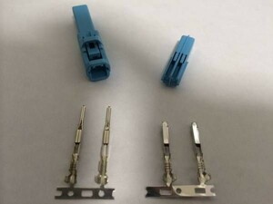 住友電装 050型 HC 2極カプラー コネクター セット配線端子付 青 ブルー