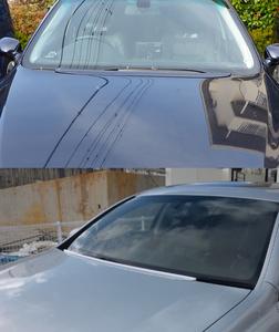 汎用型ボンネットスポイラーホンダ CR-V 2代目 RD4/5/7 無地 未塗装品 全車種適用