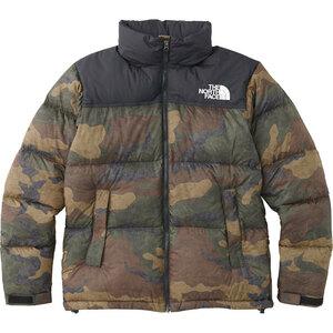 THE NORTH FACE 18AW Novelty Nuptse Jacket ND91842 DF ダークフェイドウッドランド Sサイズ 国内正規 新品 ノベルティ ヌプシジャケット
