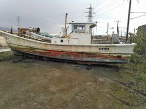 ヤマハ船 浜上げ仕様 28~30F 漁船登録抹消済み プレジャー登録出来ます。