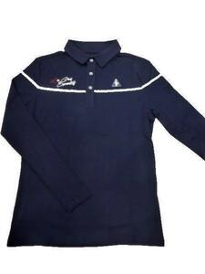 ルコックゴルフ le coq sportif GOLF ゴルフ メンズウェア 秋冬モデル 吸湿発熱 長袖ポロシャツ 40%OFFブループリント(LL寸)