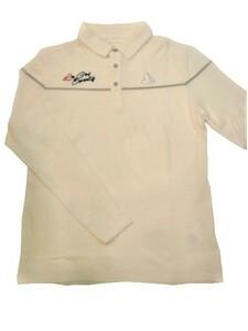 ルコックゴルフ le coq sportif GOLF ゴルフ メンズウェア 秋冬モデル 吸湿発熱 長袖ポロシャツ 40%OFF!! ホワイト(L寸)