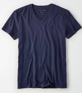 セール!!◇◆AE /アメリカンイーグル / AE VネックTシャツ / US M / Navy /