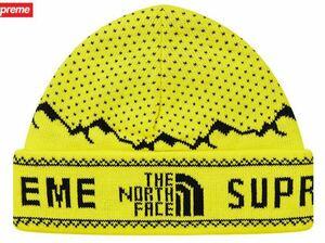 Supreme The North Face ニットキャップ シュプリーム ノースフェイス Fold Beanie ビーニー ニット帽 Sulphur イエロー 黄