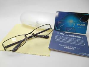 赤字3千円~●HOYAブルーライトカットPCレンズ付き老眼鏡/婦人用お洒落なナイロールフレーム・ブラック
