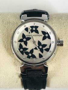 ★LOUIS VUITTON★ルイヴィトン腕時計 タンブール ラブリーダイヤモンド シェル文字盤 レディース クォーツ フラワー Q121I
