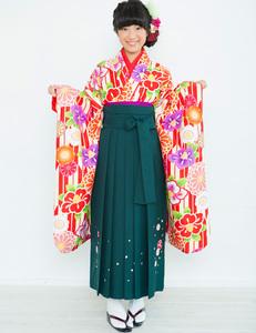 着物袴セット ジュニア用 小町 145~154cm 半衿の色は白地 新品 (株)安田屋NO26078