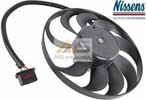 【M's】VW ゴルフ4・ボーラ(1J) パサート(3C)NISSENS製 ラジエター 電動ファン(290mm)//アディショナルファン 1C0-959-455C 1J0-959-455K