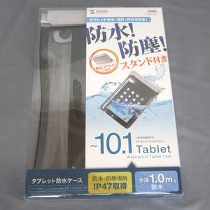 ^ Sanwa Supply планшет водонепроницаемый кейс PDA-TABWPST10GY 10.1 дюймовый до соответствует IP47 получение не использовался outlet v