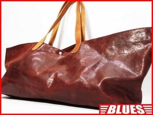 即決★N.B.★レザートートバッグ メンズ 赤茶 ブラウン 本革 かばん 本皮 レディース ハンドバッグ 鞄 ボストン