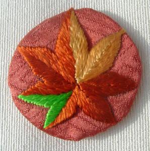 日本刺繍・正絹・花紋・替え紋・おしゃれ紋「紅葉」・長羽織・着物遊び