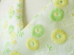 【さくら】7a ふんわりお花のチュールレース半襟・絹交織半襟・手縫い