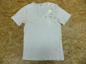PURPLE&YELLOW パープルアンドイエロー メンズ カリフォルニアクラブ Vネック 碇マーク 半袖Tシャツ L 白