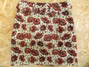 REDYAZEL レディアゼル レディアゼル 花柄 ゴブラン織前身頃スカート風ショートパンツ S 赤