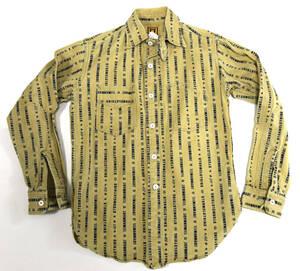 ヒューマンメイド HUMAN MADE × POST OVERALLS ダブルネーム ロゴ柄 ワークシャツ human made 2go 総柄 Sサイズ