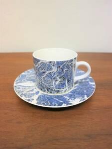 ビンテージ ストーンウェアカップ&ソーサー 陶器 コップ マグ プレート ストーン調 コーヒー ティーカップ カフェ 店舗什器 セット