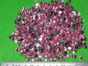 【〇ライン丸〇】6mm ピンク 約1,000個 ラインストーン ネイルケア ネイルアート用品 【超特価】アクリル