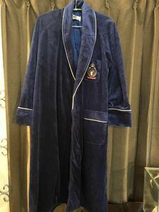 【美品】 YvesDelorme イヴドローム 最高級バスローブ ナイトガウン ルームウェア メンズ フランス 高級リネン ジェラートピケ オム