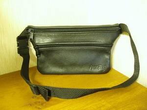 ●AmeriBag アメリバッグ レザーウエストバッグ ヒップバッグ ウエストポーチ 本革 黒