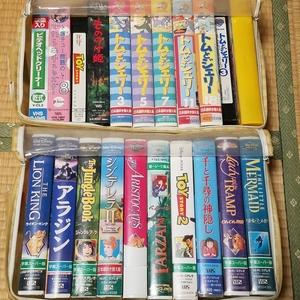 ★即決★ ディズニー他 ビデオ(VHS)20本 ビデオクリーナー1本