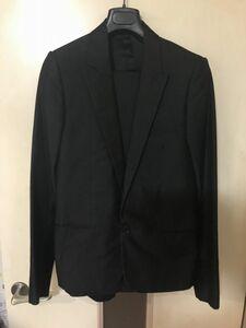 08 Dior homme ディオールオム セットアップ スーツ ジャケット メンズ シルク混合