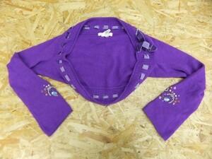 PEACH JOHN ピーチジョン レディース アンゴラ混 オリエンタル刺繍 ニットボレロ 紫 S