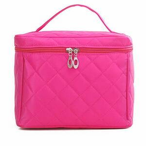 コスメバッグ メイクポーチ 化粧ポーチ バニティケース トラベルポーチ鏡付き ドレッサー 収納 ピンク