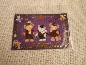 新品購入品 ディズニー ダッフィ シェリーメイ ジェラトーニ ハロウィン 紫 ポストカード 入手困難