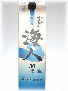 泡盛 海人 (うみんちゅ) 30度 1800ml 紙パック ■12本セット ■送料無料