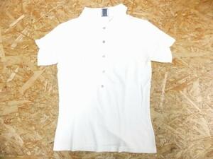 CITY DKNY ダナキャランニューヨーク レディース レーヨンナイロン 袖シャーリング 半袖ポロシャツカットソー 白 XS