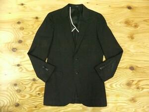 R.NEWBOLD アールニューボールド メンズ シルク混 テーラードジャケット スリム 黒 S