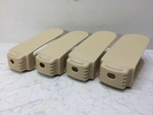 中古品 ★ like-it/ライクイット ★ 靴ホルダー 4個セット 日本製 靴収納/下駄箱