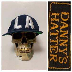 DANNY'S HATTER ダニーズハッター LA ロスアンゼルス ロスアンジェルス 立体刺繍 ベースボールキャップ 帽子 キャップ ネイビー 57~59cm