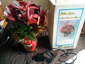 光る花束 造花 クリスマス 光ファイバー 電飾花