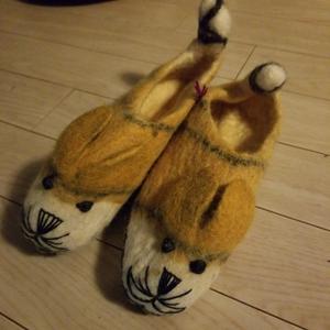 犬 猫 フエルト スリッパ 可愛い クラフト ルームシューズ 猫カフェ ぬいぐるみ 猫グッズ 猫首輪