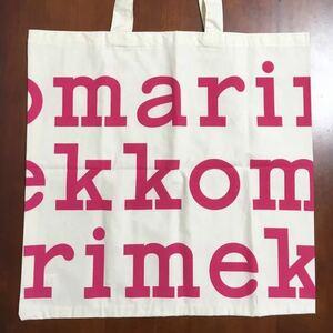新品marimekko マリメッコ トートバッグ ピンク エコバッグ 非売品 文字 コットン