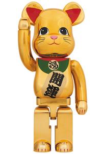 ベアブリック【 東京スカイツリー ソラマチ メディコムトイ・招き猫 金メッキ 参 3 三 1000% 】新品