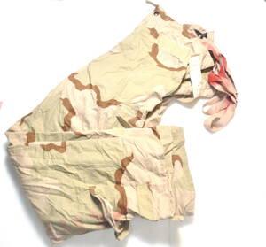実物 米軍放出品 3C デザート迷彩 ケミカルパンツ オーバーオール M-L 中古