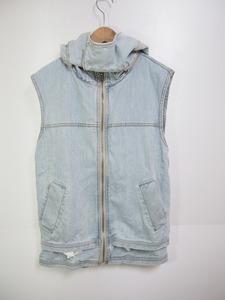 страна  внутри  регулярный  ksubi  ...   безрукавный   Denim   куртка   лучший   капот  есть  может   ...   размер XS  свет  синий  118J