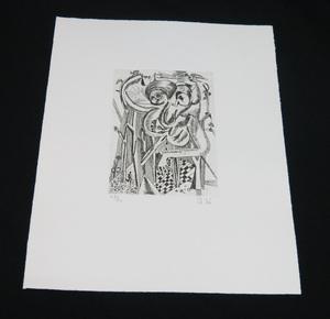 瑛九  銅版画 SCALE 9 未使用シート 東京国立近代美術館収蔵
