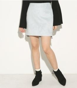 ★新品 SLYライトブルーフェイクスエードミニスカート★1 福袋