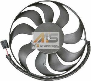 【M's】アウディ A3(8L)/TT(8N)ラジエーター 電動ファン(290mm)//純正OEM ラジエター ブロアファン アディショナルファン 1J0-959-455R