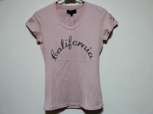 エドハーディー ED HARDY レディース半袖Tシャツ ピンク Sサイズ UR179 新品