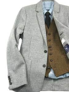 新品 ami × 英国MOON社 【軽量 ツイード 秋冬】 定価10万円 ジャケット グレー ★301516